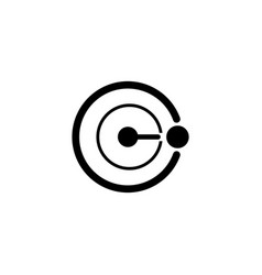 Orbit proton nucleus flat icon vector