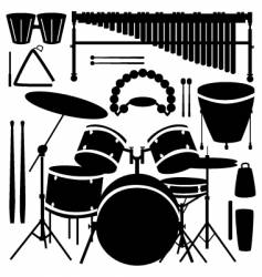 Percussion instruments vector