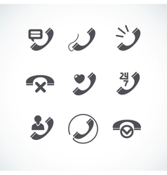 Phone Tube flat icons collection vector