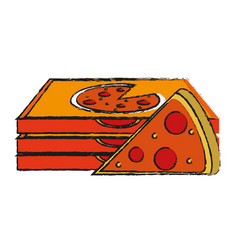 Pizza draw vector