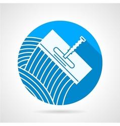 Round icon for spatula vector image