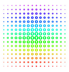 Rounded arrow shape halftone spectrum pattern vector