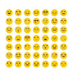 set of emoticons funny cartoon faces avatars vector image