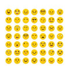 set of emoticons funny cartoon faces avatars vector image