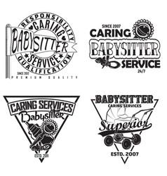Set of vintge emblem design vector