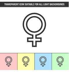 simple outline transparent venus or female symbol vector image