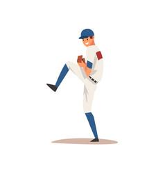 Smiling baseball player softball athlete vector