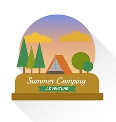 Summer camping landscape vector image
