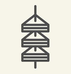 Tapas line icon canape vector
