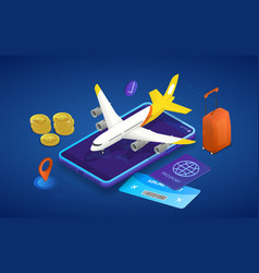 time to travel abstract isometric concept with vector image