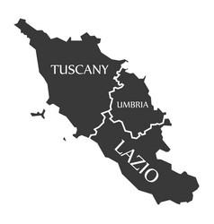 Tuscany - umbria - lazio region map italy vector