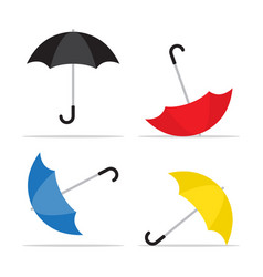 umbrella icon rain protection symbol vector image