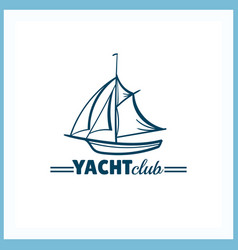 Yacht club badge vector