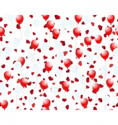 balloons on hearts vector image