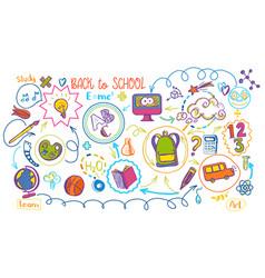 colored school education sheme vector image