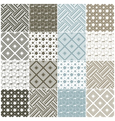 geometric seamless patterns with squares vector image vector image