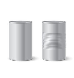 metallic tin can vector image vector image