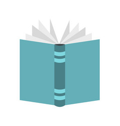 open thick book icon flat style vector image vector image