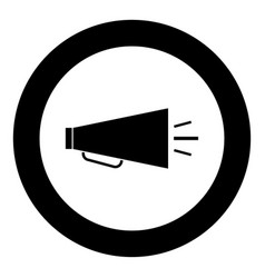 retro loudspeaker icon black color in circle vector image vector image