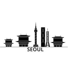 seoul architecture city skyline travel vector image