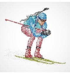 abstract biathlon sportsman vector image vector image