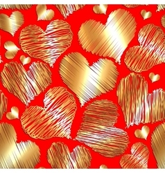 abstract love heart seamless background for vector image vector image