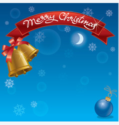 christmas background and celebration banner vector image vector image
