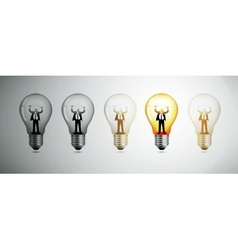 Light bulb The concept of idea vector image vector image