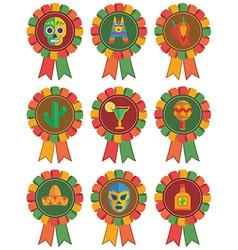 Mexican rosettes vector