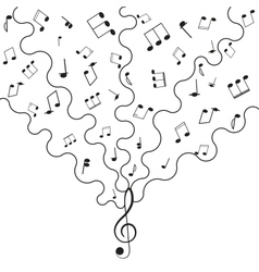 Musical background music for your design vector image vector image