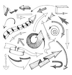 Arrows icon sketch vector image
