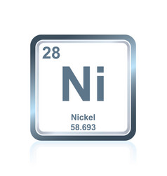 chemical element nickel from the periodic table vector image vector image