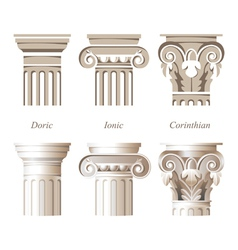 columns icons vector image