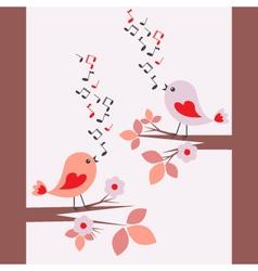 cute birds singing seamless vector image