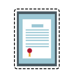 Diploma certificate icon image vector
