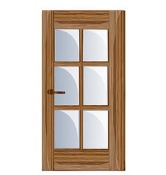 Interior apartment wooden door vector image
