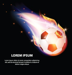 Isolated fire soccer ball or football symbol stars vector