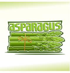 logo for asparagus vector image