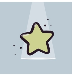 Lucky star cartoon style Modern vector image