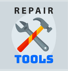 repair tools hammer wrench icon creative graphic vector image vector image