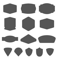 Set of vintage frames for emblems labels insigni vector image vector image
