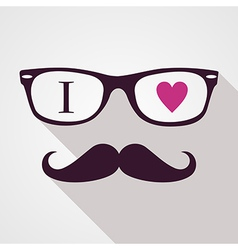 Vintage hipsters icons face vector image vector image