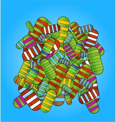 glass colored medic pills vitamins set vector image vector image