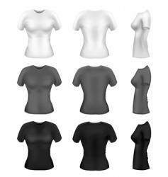 women's t-shirts vector vector image