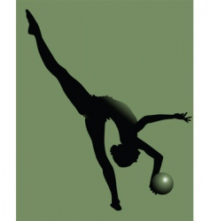 young gymnast vector image