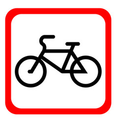 a bicycle icon on a white background vector image