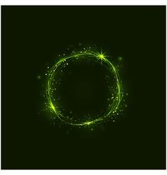 Abstract burning circles vector image