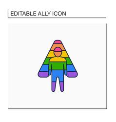 Ally line icon vector