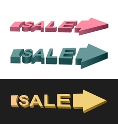 Arrows sale vector image
