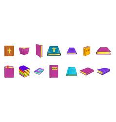 book icon set cartoon style vector image